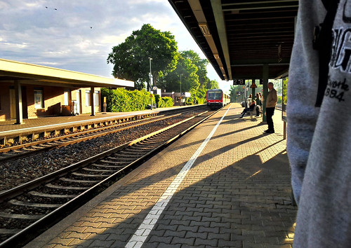 in the morning at the station