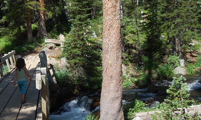 Bridge Crossing - Hiking at Mitchell Lake Indian Peaks Wilderness
