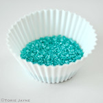 Shimmer turquoise decorating sugar crystals