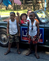 At the Peekskill 4th of July Parade