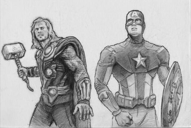 Avengers - Thor & Capt. America
