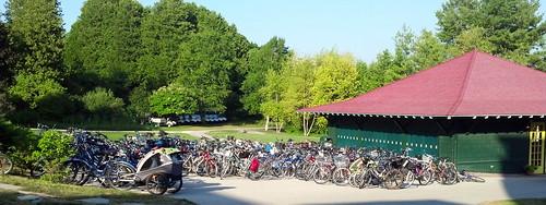 bikes on Mackinac Island