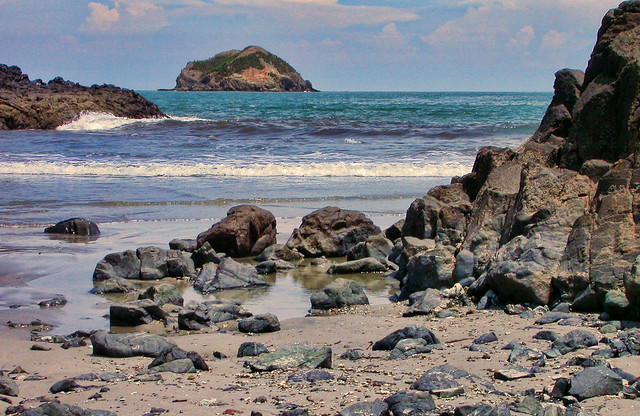 Rocky Beach at Manuel Antonio Costa Rica