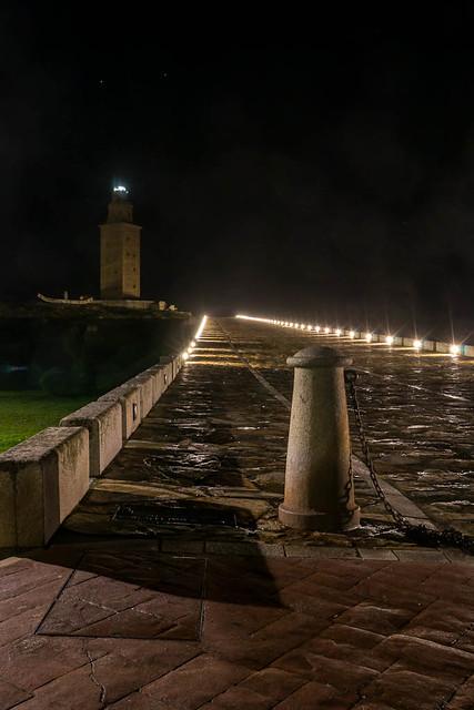 Torre de Hercules de noche - Coruña