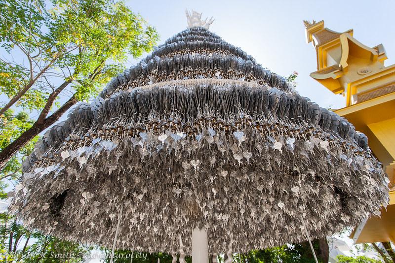 Wat Rong Khun Seven-Tier Parasol