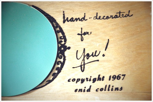 enid collins 1967 hand decorated for you