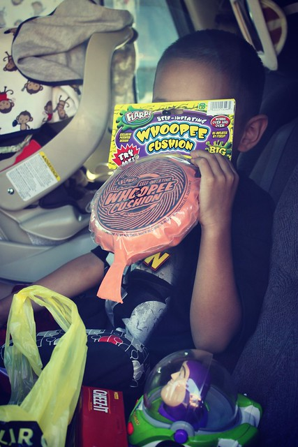 Whoopee Cushion and Cheez-its