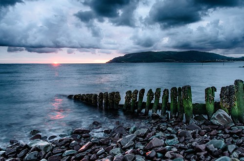 uk sea england sun seascape west beach sunrise seaside britain country somerset pebbles weir porlock westsomerset porlockweir nikond7000