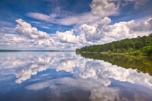 reflection water canon landscape eos nc northcarolina mirrorimage jordanlake 1635l 5dmarkii