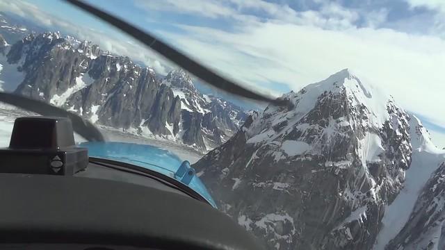 denali glacier cockpit view