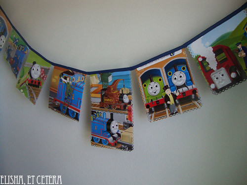 thomas the train bunting paper 3