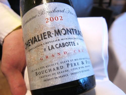 2002 Chevalier Montrachet La Cabotte Grand Cru Bouchard Père et Fils
