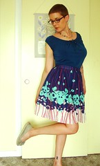 Betty skirt - border print 2