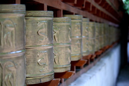 Prayer Wheels at Alchi, Ladakh