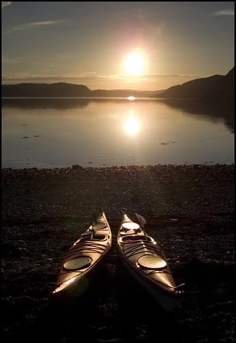 sunset scotland seakayak seakayaking lochglencoul robbiegraham