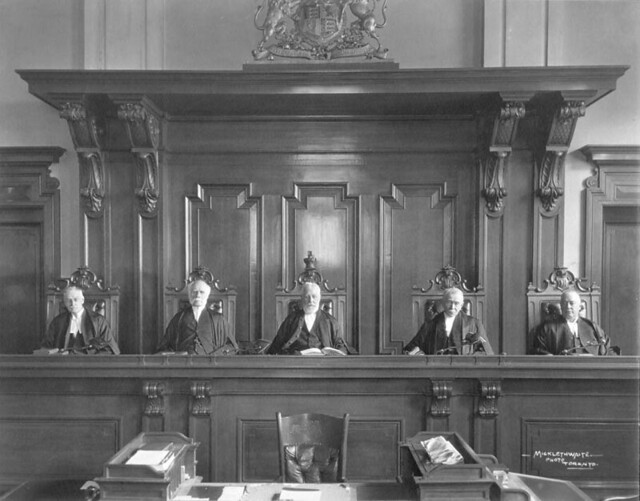 Justices of Appeal. Supreme Court of Ontario Canada