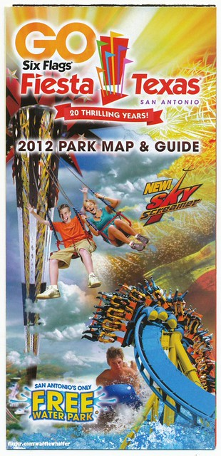 Six Flags Fiesta Texas Park Map 2012 Flickr Photo