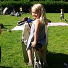 Lulu on her Mum's Bike