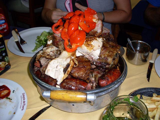 Meat platter in Uruguay