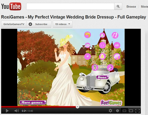 screen shot of a wedding fantasy video game