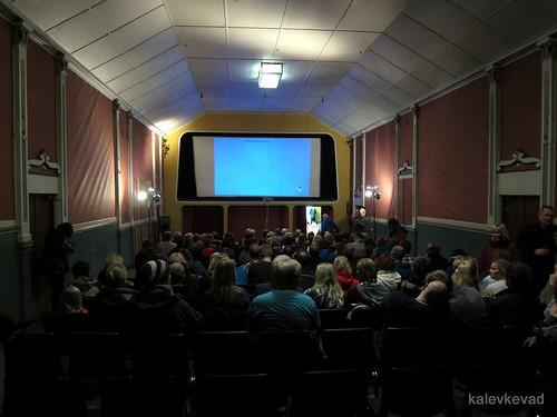 Vardø old cinema, ready for talk by Tristan Manco