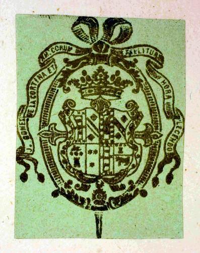 Heraldic bookplate in Bessarion, Johannes, Cardinal: Adversus calumniatorem Platonis