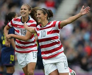 Carli Lloyd and Alex Morgan