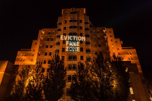 PacMed Building on Beacon Hill in Seattle - declaring           the neighborhood and Eviction Free Zone