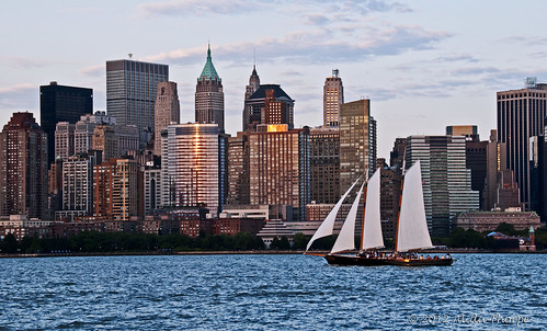 sailboat & NYC by Alida's Photos