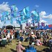 Flags and the main stage at WOMAD