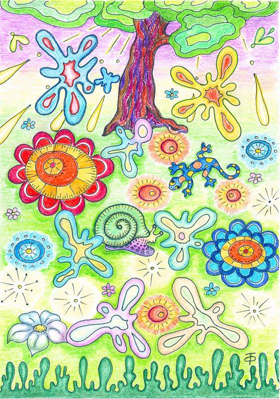 детские рисунки цветными карандашами: