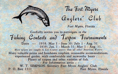 Fort Myers Anglers' Club, Florida, 1938