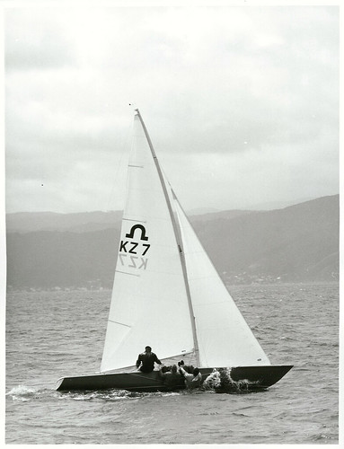 """<p>Title:<br /> Sports - Yachting - Wellington<br /> <br /> Publicity Caption:<br /> Olympic Soling Class Yacht Races, """"Zeus"""" skippered by Helma Pederson leads the field, Wellington Harbour<br /> <br /> Photographer:<br /> R. Coad (R24802533)<br /> <br /> October 1971, Wellington<br /> <br /> Reference: R24802533 AAQT 6539 W3537 115 / A97837</p>"""