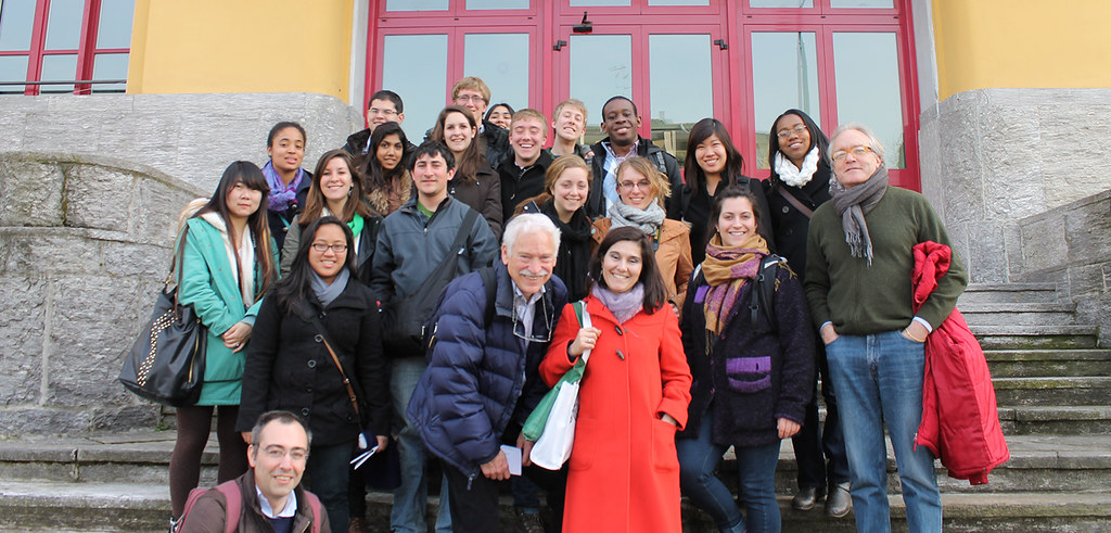 Urban and regional studies students in Milan, spring 2013.  photo / Hannah Brockhaus (B.S. URS '14)