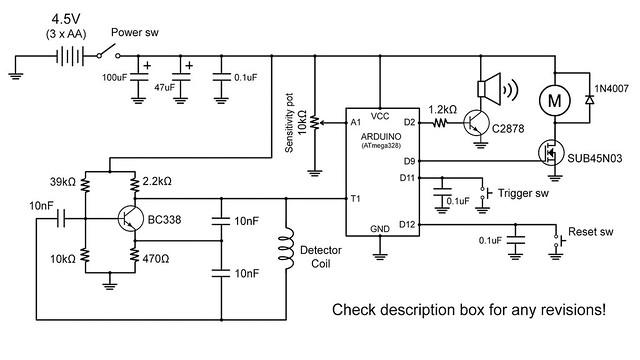 Détecteur de métal Arduino