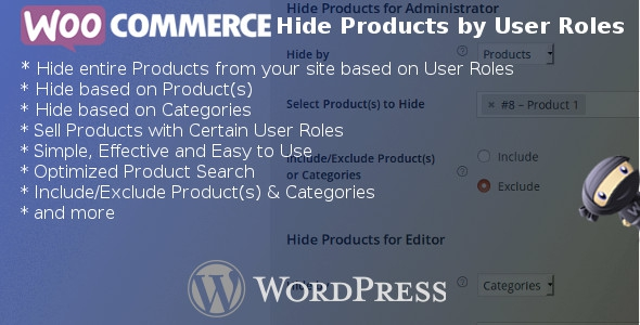 WooCommerce Hide Products by User Role v3.7