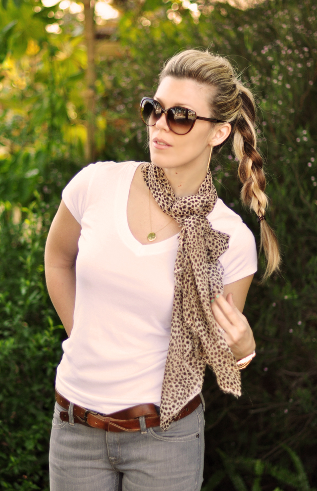 ponytail braid- contrast colors