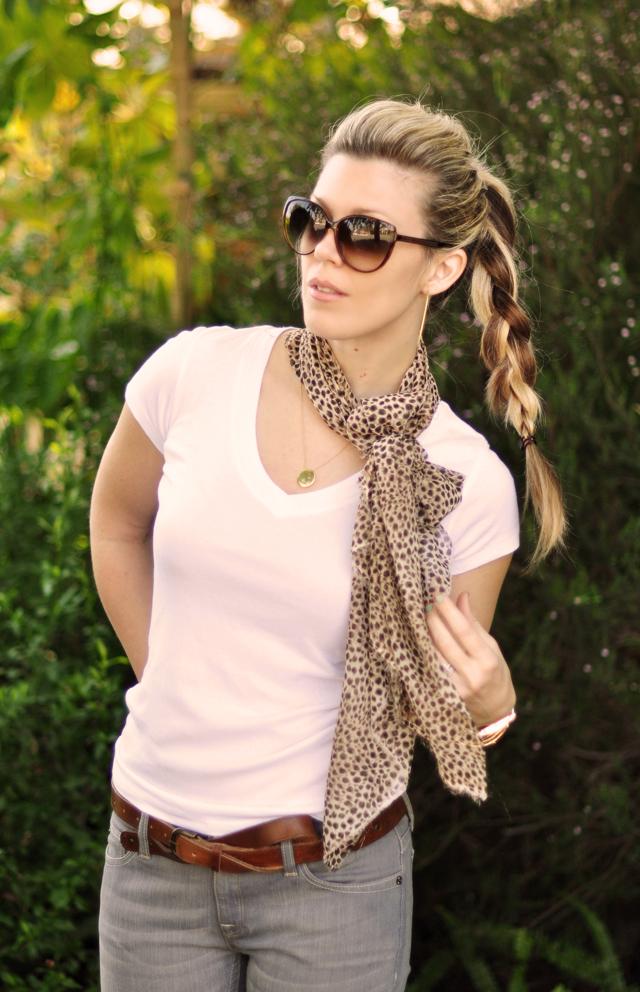 ponytail braid- contrast colors