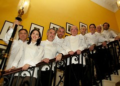 Chefs attend the GREAT food reception