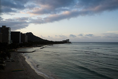 The early bird catches the wave - Waikiki