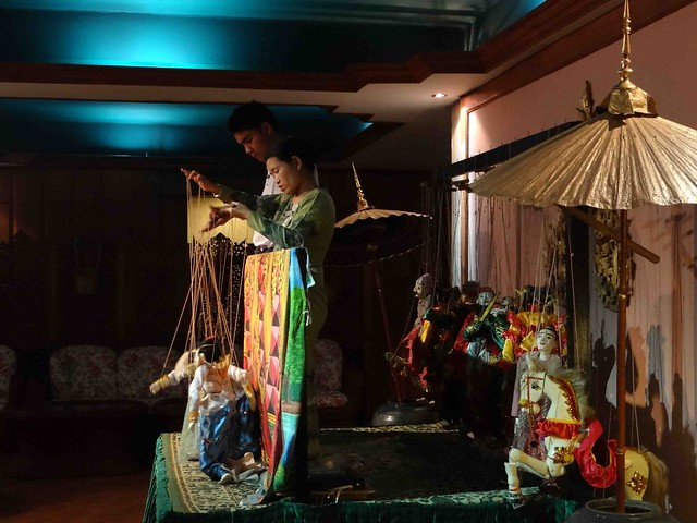 Puppet show at Amazing Bagan Resort