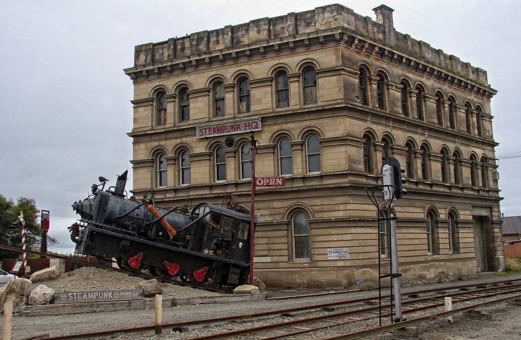 SteamPunk HQ. Oamaru, South Island, New Zealand