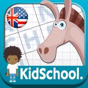Karo Design, Caroline Huet - Kidschool - Mes premiers mots fléchés en anglais