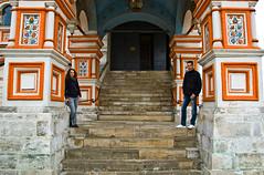 Véro et moi sur les marches de la Cathédrale Saint-Basile-le-Bienheureux