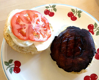 Portobello Burger with Basil Mayo