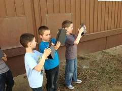 Taking Pictures outside with the iPads