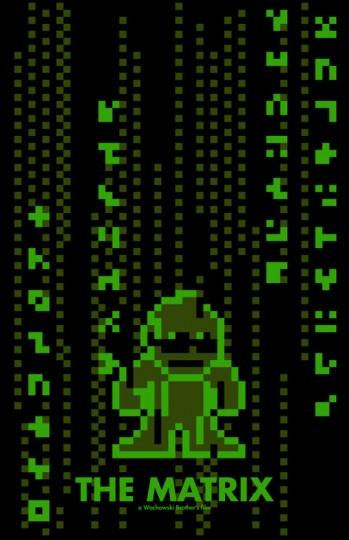Grandes bilheterias do cinema em 8-Bits Matrix