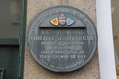 Photo of Philippe d'Auvergne grey plaque