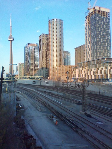 Looking east at downtown Toronto from Bathurst Street (1)