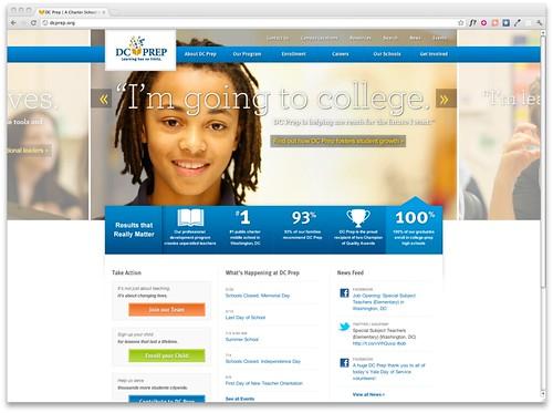 DC Prep homepage